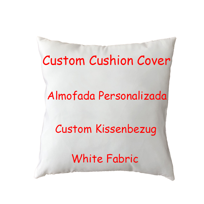 Creative DIY Custom Image Cushion Cover Polyester Peach Car Living Room Sofa Yard Rocker Decor Customize Personalized Pillowcase