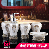 Baroque Creative Toiletries Kit 5 Piece Hand Sanitizer Bottle Grade Soap Box Toothbrush Holder Cup Bathroom