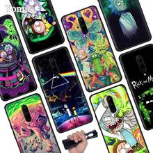 Rick and Morty Anime Black Soft Case for Oneplus 7 Pro 7 6T 6 Silicone TPU Phone Cases Cover Coque Shell