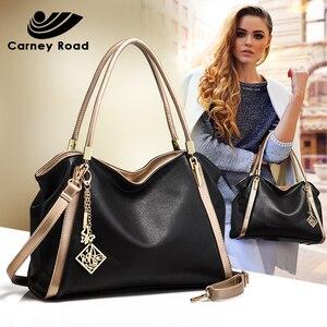Image 1 - แฟชั่นผู้หญิงกระเป๋าถือขนาดใหญ่ความจุกระเป๋าหนัง PU Hobo Messenger กระเป๋าคุณภาพสูง