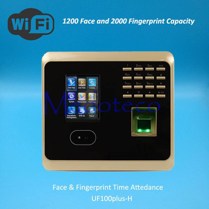 Wifi Face Time Attendance Fingerprint Time Attendance Tcp/ip+wifi Zk 1200 Face Biometric Face Time Recording Attendance System