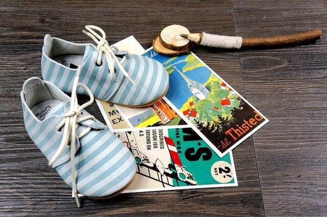 Детские мокасины Кожаные Полоски Abrazine Телячьей Кожи девочка мальчик обувь Prewalker Bebe обувь Полосы Детские Firstwalker freeshipping