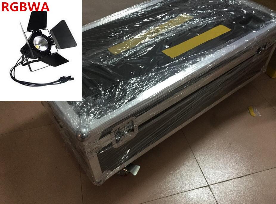 6pcs 200W led par COB flightcase RGBWA UV RGBW 4in1/RGB 3in1/ Warm White Cold white UV led  spotlight dj light Dmx controll