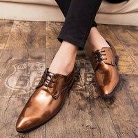 Thestron Male Dress Shoes Social Men Shoes Luxury Brand Golden Wine Red Blue Black Formal Shoes Men Toe Office Footwear Quality