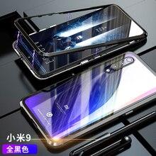 Магнитный металлический бампер чехол Xiaomi mi 9 чехол Xiaomi mi 9 se прозрачное бесцветное стекло задняя крышка для Xia mi Xiaomi mi 9 Чехол Броня
