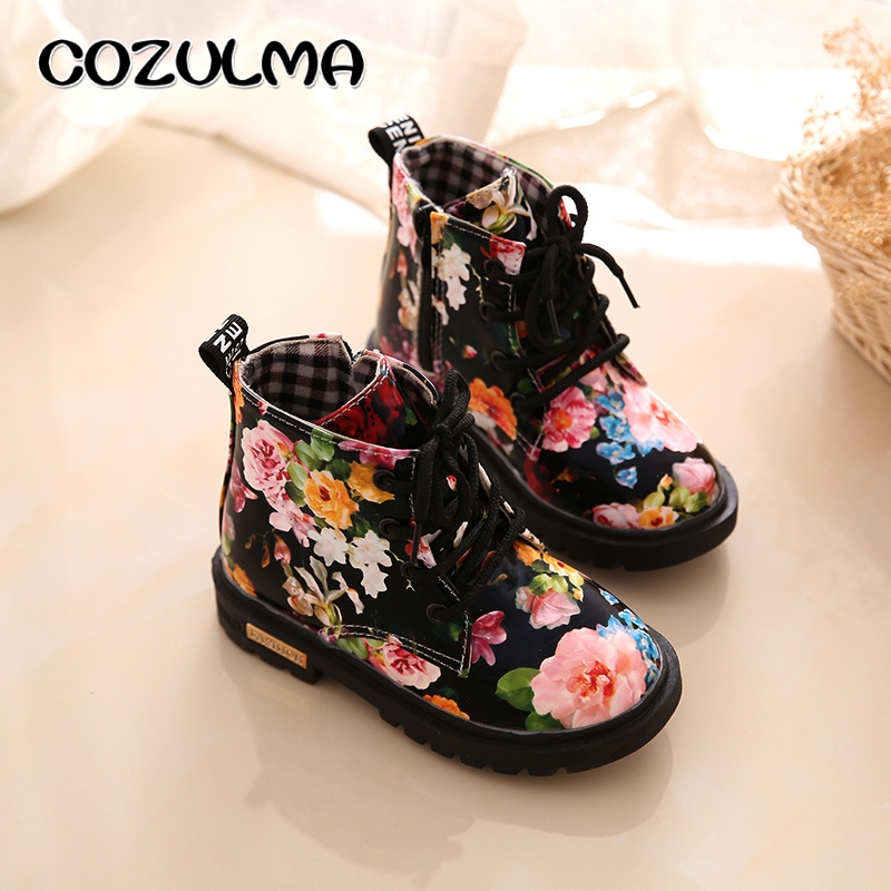 COZULMA-Kids-Boots-for-Girls-Boys-Elegant-Floral-Flower-Print-Boots-Children-Boots-Shoes-Baby-Toddler-Martin-Boots-Kids-Sneakers-3