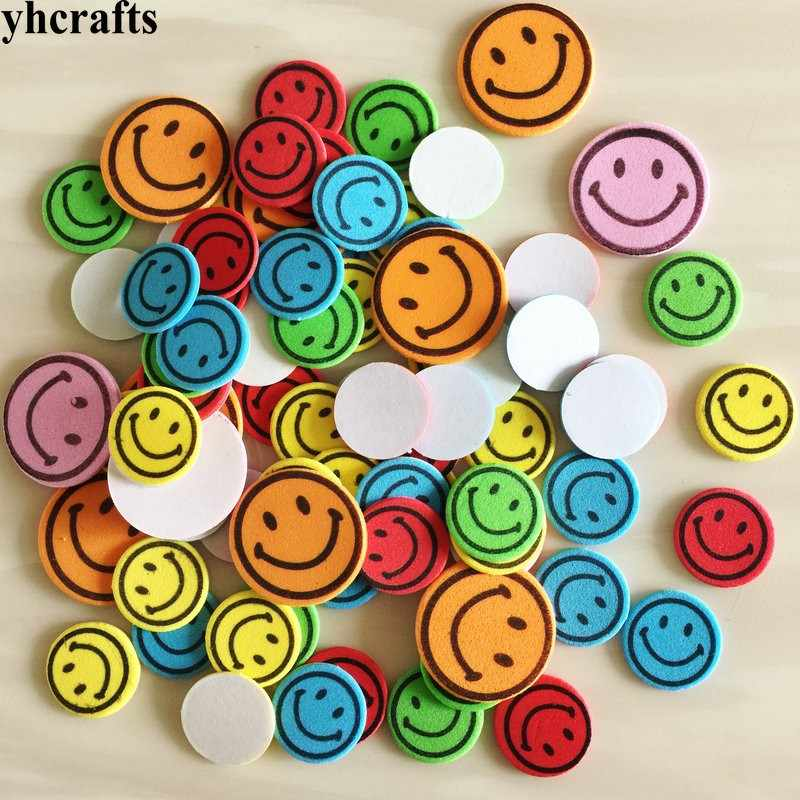 40PCS/LOT.Colorful smile face foam stickers Early learning diy toys Activity items Kids room ornament Reward label Birthday gift