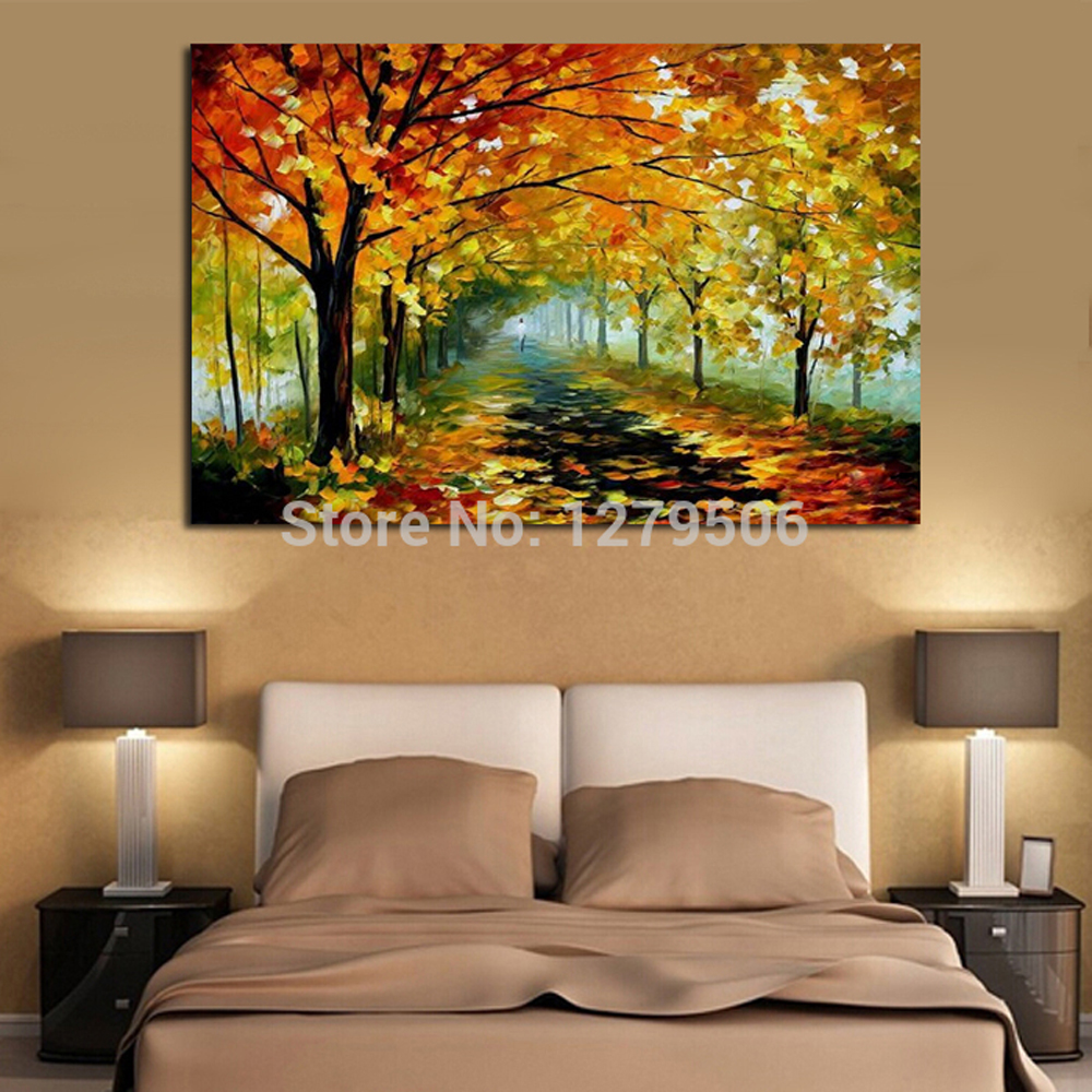 BB 100-Handpainted-Abstract-Autumn-Forest-Knife-Oil-Painting-On-Canvas-Thick-Oil-Painting-Wall-Picture-For (3)
