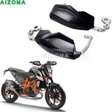 Handguards Supermoto Dupla Esportes Motocicleta Preta Universal 22/28mm Escova Guardas Para KTM Duke 125/200/ 250/390/690/790/1290