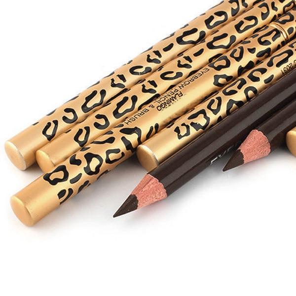 1 pieza perfecta sombra unids de cejas resistente al agua larga herramienta de maquillaje Maquiagem lápiz de cejas y cepillo de cejas