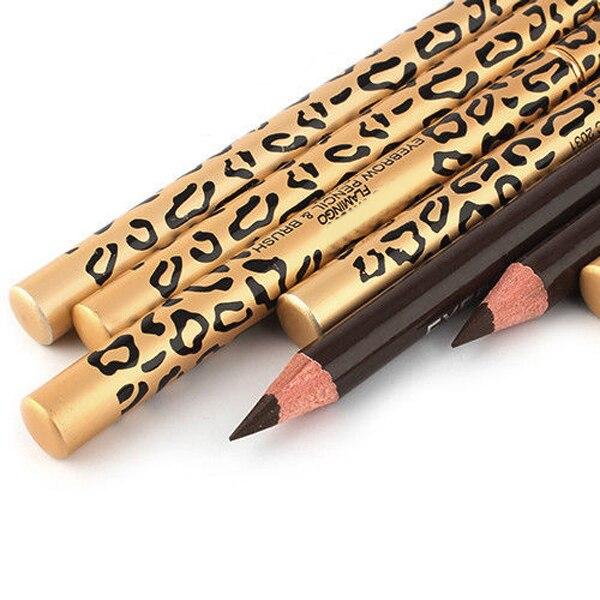 1 piezas de cejas perfecto sombras impermeable duradero hacer herramienta Maquiagem lápiz de cejas y cepillo de cejas ojo herramientas de maquillaje