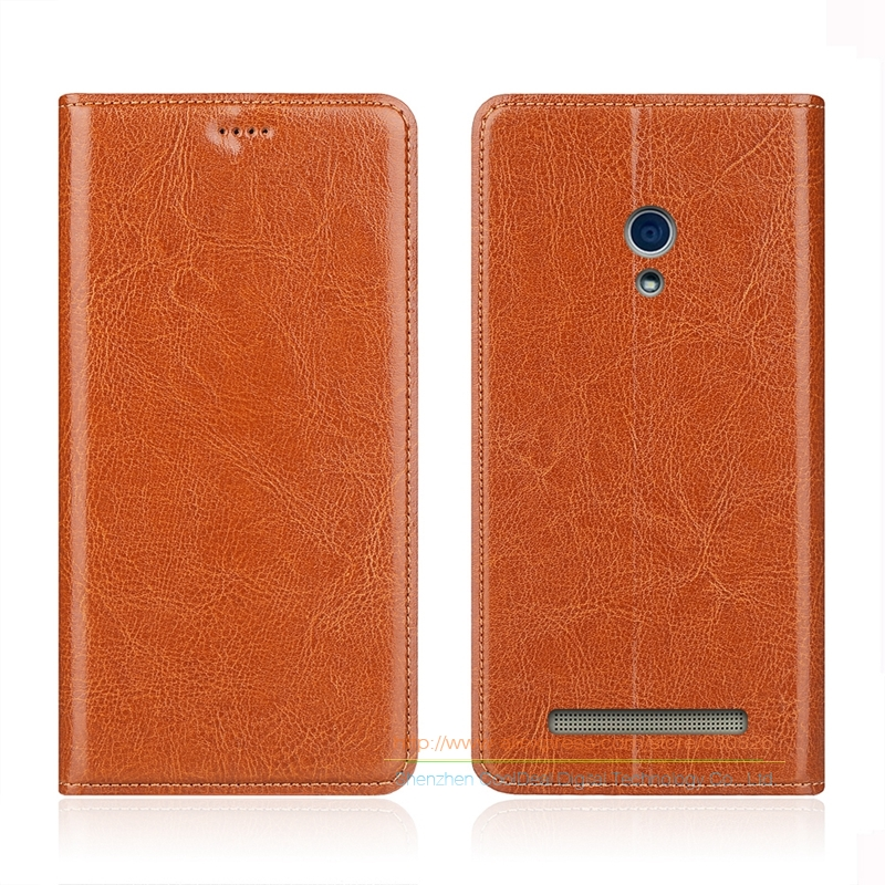 Business Crazy Horse Genuine Leather Case For ASUS T00J T00P ZenFone 5 A501CG A500KL 5 0