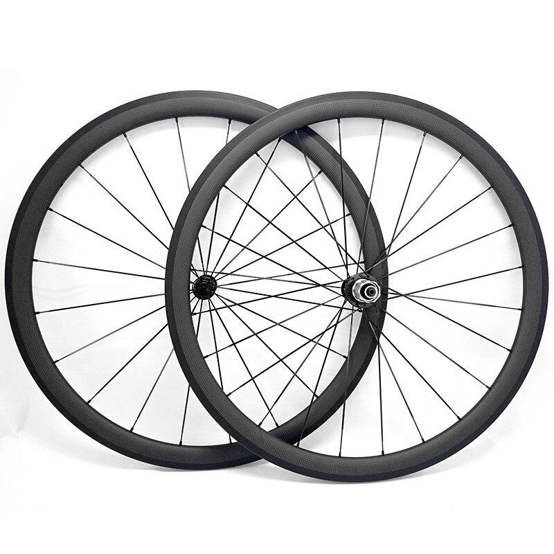 free shipping carbon road wheels 38x25mm wheels powerway R36 ceramics clincher wheel 700c carbon bike road