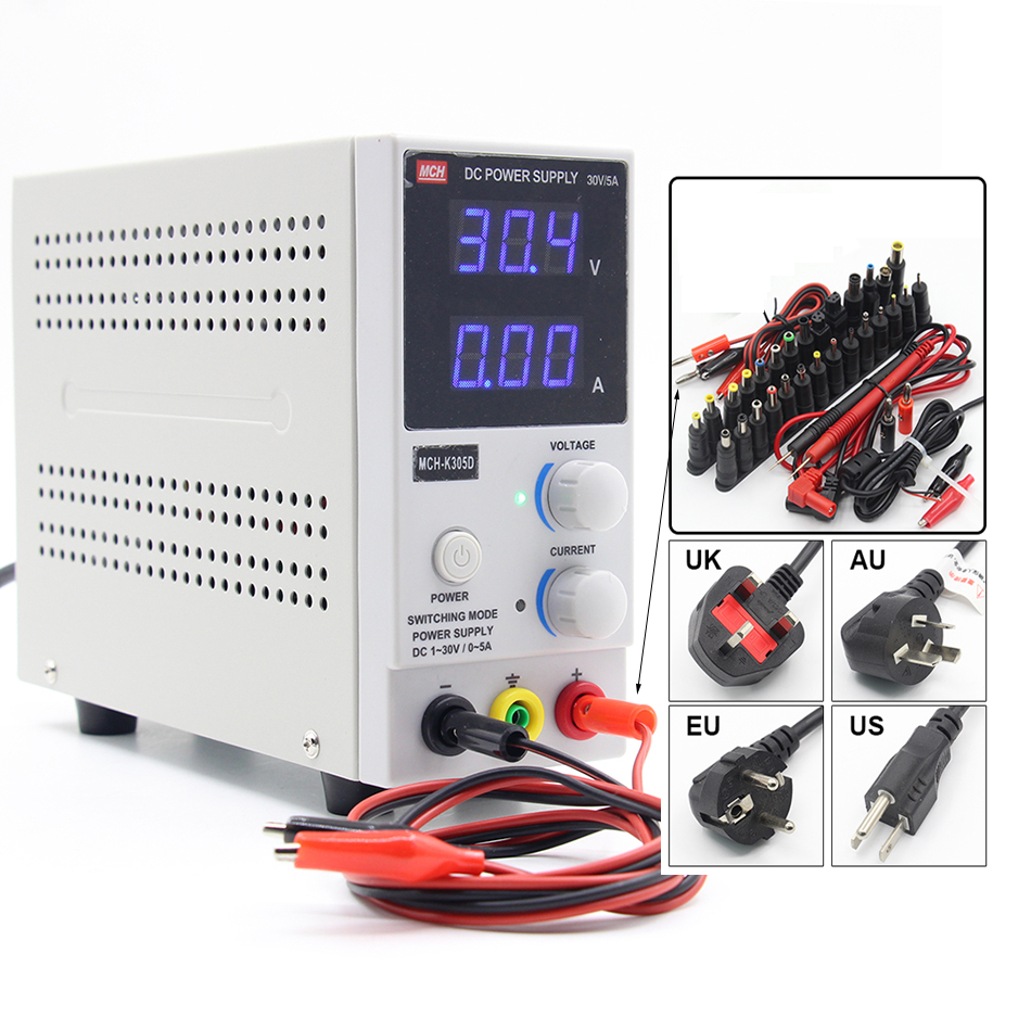 New Design <font><b>MCH</b></font>-<font><b>K305D</b></font> Mini Switching Regulated Adjustable DC Power Supply SMPS Single Channel 30V 5A Variable (110V US 220V EU) image