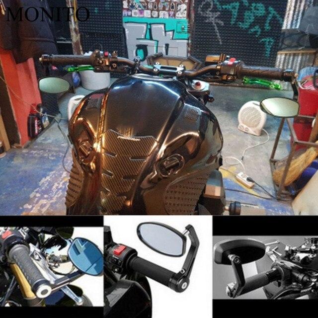 لسوزوكي GSXR GSX-R 600 750 1000 K1 K2 K3 K4 K5 K6 K7 K8 دراجة نارية الرؤية الخلفية المرايا الجانبية الرؤية الخلفية بار نهاية مقهى المتسابق مرآة