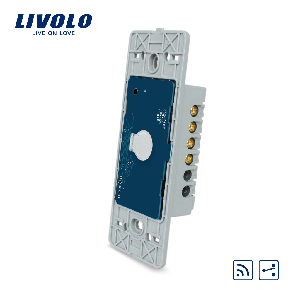 Livolo US standard Base of Touch Screen Wall Light Switch Remote Switch,1Gang 2 Way,AC 110~250V, Without glass panel,VL-C501SR