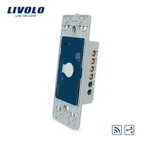 Free Shipping Livolo Manufacturer The Base Of Touch Screen Wall Light Switch Remote Switch 1Gang 2