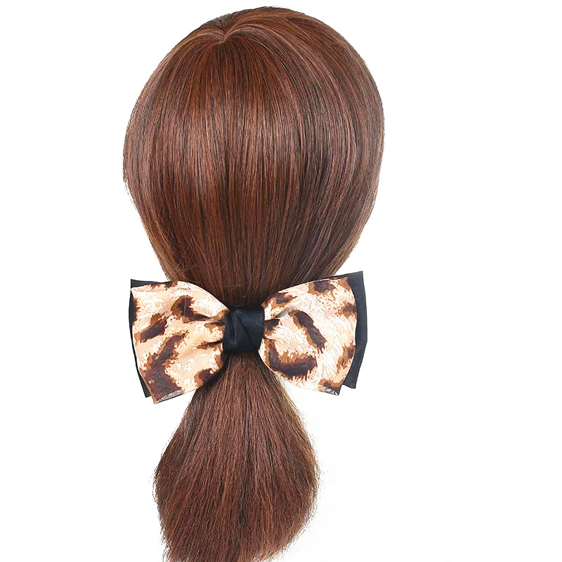 leopard print classic large bow