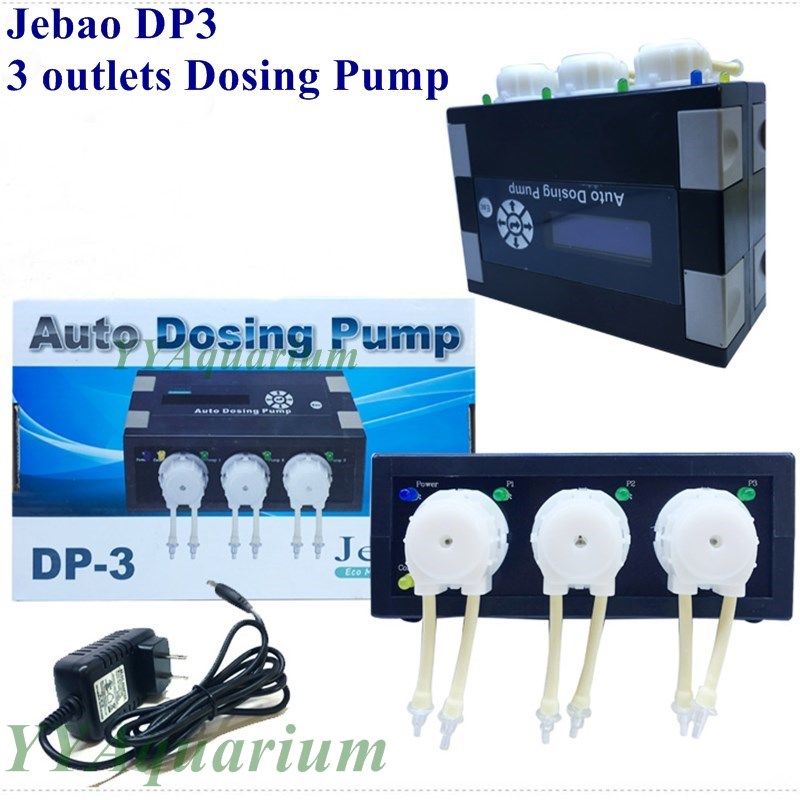 JEBAO DP 3 sistema de dosificación automática bombas de dosificación peristáltica 110 V 240 V acuario bombas de alimentación líquida para Arrecife Marino CORAL 3 canales-in Bombas de agua from Hogar y Mascotas    1