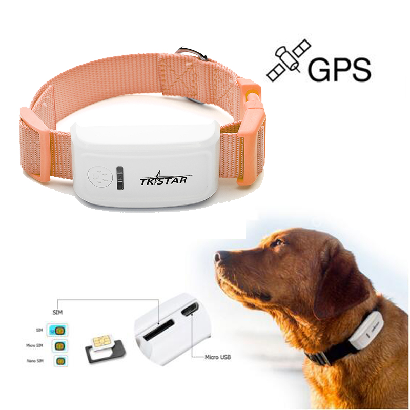 Mini pet gps tracker Realtime GSM GPRS tracking System waterproof level IPX6 gps locator Free Shipping
