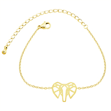 Animal Jewelry Origami Elephant Charm Bracelet For Women Friendship Gift Gold Silver Hand Link Armbanden Voor Vrouwen цена