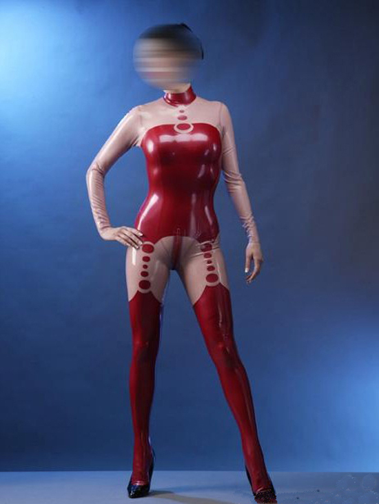 Fetish Latex Catsuit Women Sexy Rubber Bodysuit Costume with Back Zipper for Adult Plus Size Hot Sale