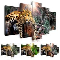 Canvas Art Print Modern Wild Animals Leopard Cheetah Painting Home Decoration Choose Color Size No Frame