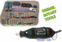 Envío libre eléctrico Dremel herramientas amoladora 161 unid kit, Mini morir moler herramientas, precio de fábrica