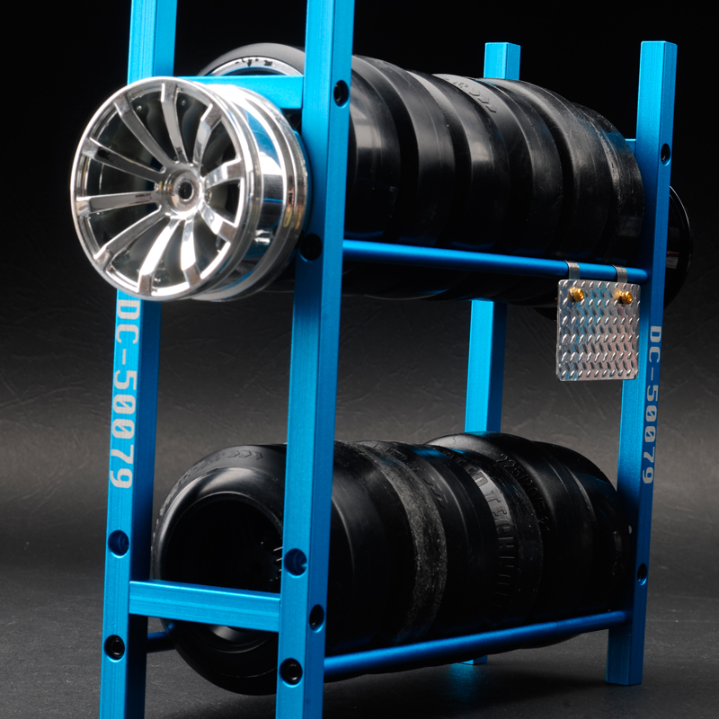 ALLOY RC TIRE SHELF RC TYRE SHELF FOR 110 SCALE RC DRIFT CAR AND RC CRAWLER CAR