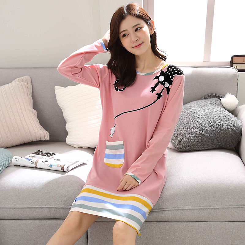 2019 new lace   nightgowns     sleepshirts   home dress sleep & lounge nightdress sexy   nightgown   female night wear solid sleepwear