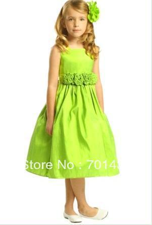 Popular Lime Green Flower Girl Dresses-Buy Cheap Lime Green Flower ...