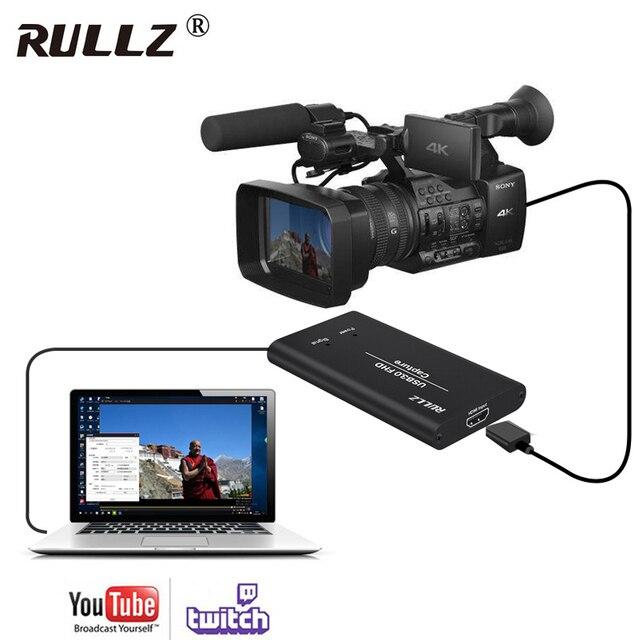 מלא HD USB 3.0 HDMI משחק וידאו לכידת הקלטת כרטיס עבור MAC Win10 פייסבוק Youtube OBS עווית פגישה חיצונית לחיות הזרמת