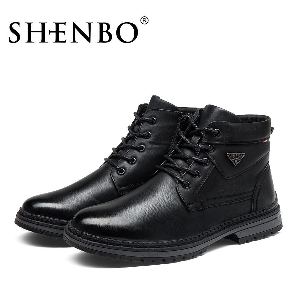 SHENBO Brand Fashion Winter Super Warm Men Boots, High Quality Men ...
