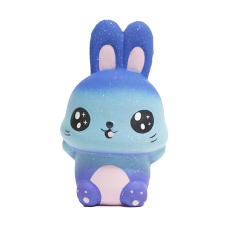 New Starry Sky Rabbit Jumbo Squishy Slow Rising Squeeze Stress Relief Kid Toys