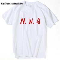 Niggaz Wit Attitude T Shirt Men 2017 Summer NWA N W A Straight Outta Compton Letter