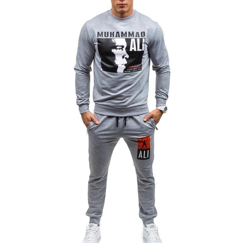 ZOGAA Men Tracksuits 3 Colors 2019 New Autumn European And American Men's Sweatshirt Pants Suit Size XS-4XL Sweatsuits Men