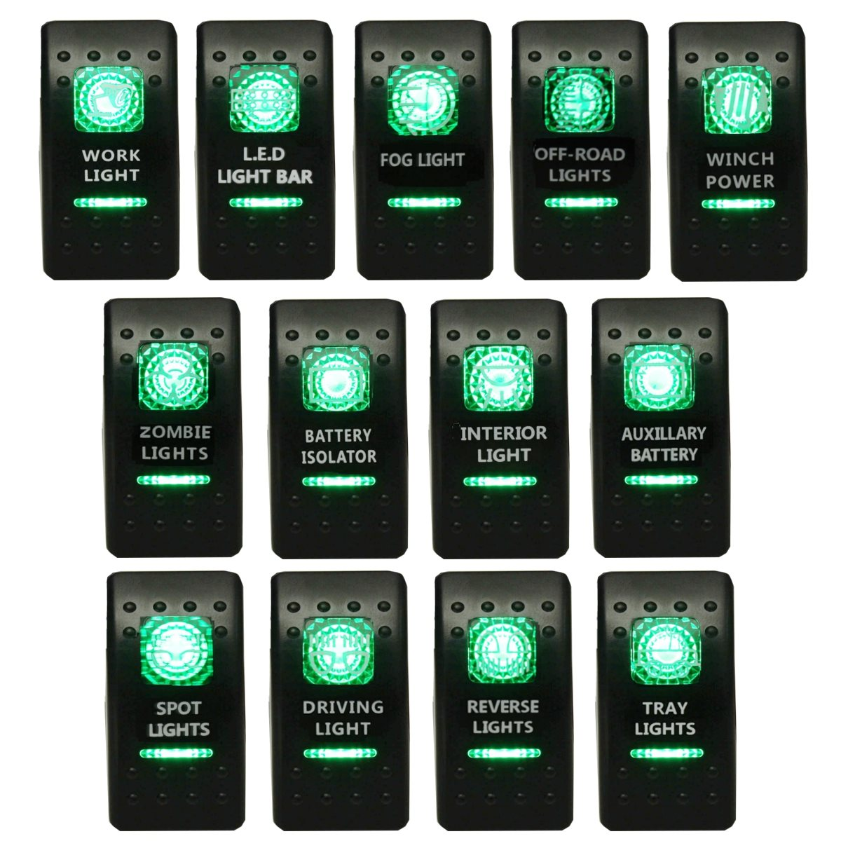 illuminated marine rocker switches 2007 kenworth radio wiring diagram toggle switch carling narva arb style dual led on off gree in car relays from automobiles motorcycles aliexpress com