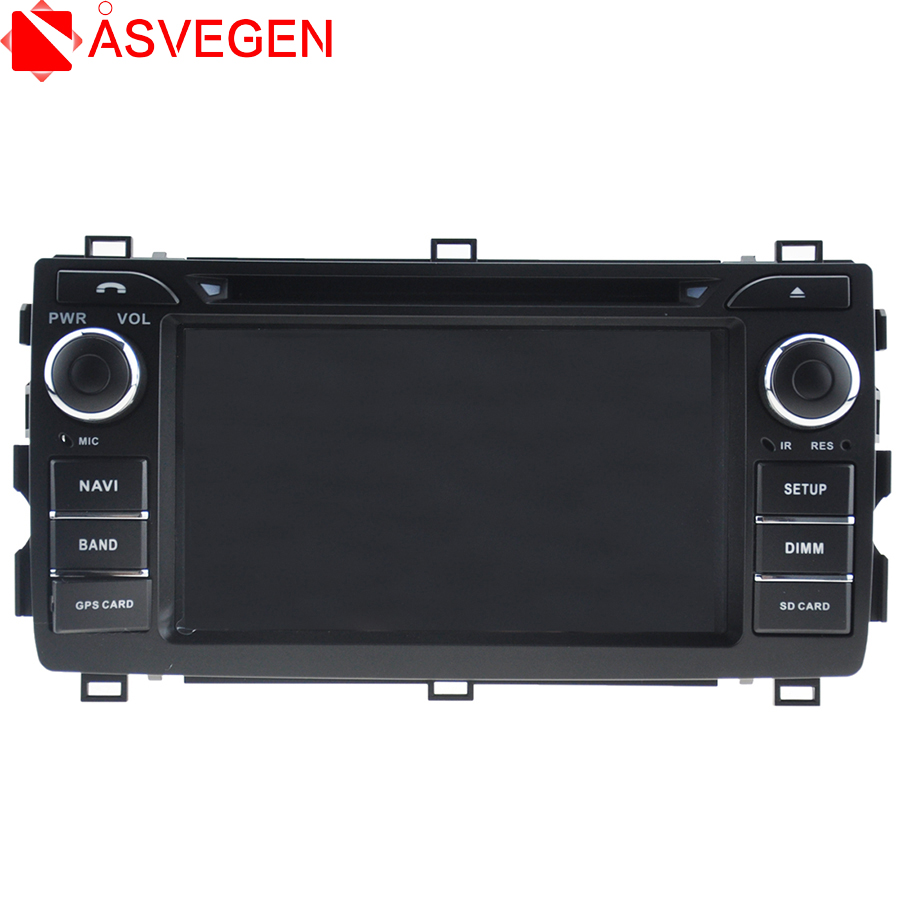 Asvegen Tactile Écran Voiture Android Multimédia Radio CD Lecteur DVD GPS Navigation Audio Vidéo Stéréo Système Pour Toyota Auris 2013