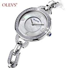 New OLEVS boutique Ladies Fashion Watch top luxury rhinestone quartz watch waterproof bracelet female watch clock Reloje mujer