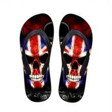 Nouvelle Arrivée Marque D'été Flip Flops Hommes Sandales Pantoufles Occasionnels chaussures Crâne Hommes de Plage Flip Flops Mâle Plus La Taille Livraison gratuite