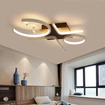 Kreative Mode Decke Lampe Led Decke Licht für foyer wohnzimmer Schlafzimmer Küche Schwarz und Weiß C Decke Lampe 110 v 220 v