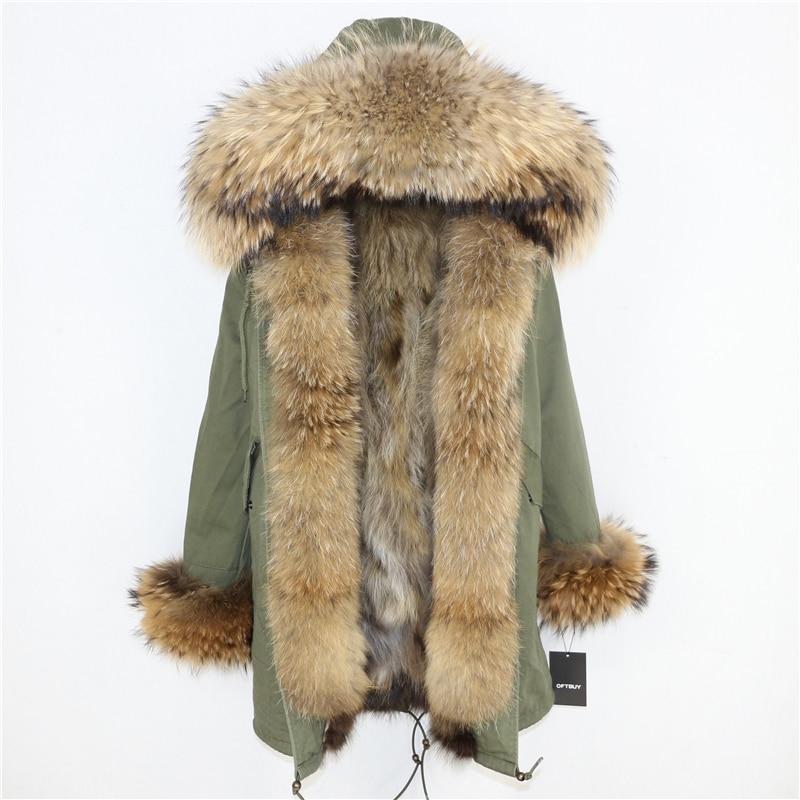 OFTBUY 2019 Winter Jacket Women Long Parka Real Fox Fur Coat Natural Raccoon Fur Collar Hood Thick Warm Streetwear Parkas New 45