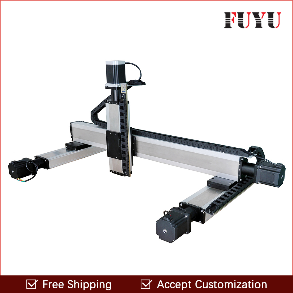 все цены на Fuyu linear guide rail straight slide module double track ball screw 1610 for XYZ axis/gantry/table/workbench support customized онлайн