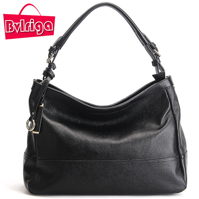 BVLRIGA brand genuine leather handbag women messenger bag female shoulder bag large tote bags high quality ladies hobo handbag недорого