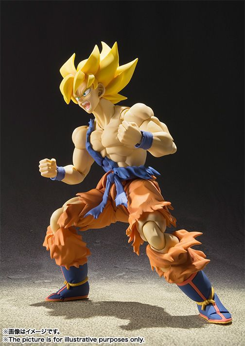SHFiguarts Dragon Ball Z Super Saiyan Son Gokou Super Warrior Awakening Ver. PVC Action Figure Collectible Model Toy 16cm KT2412