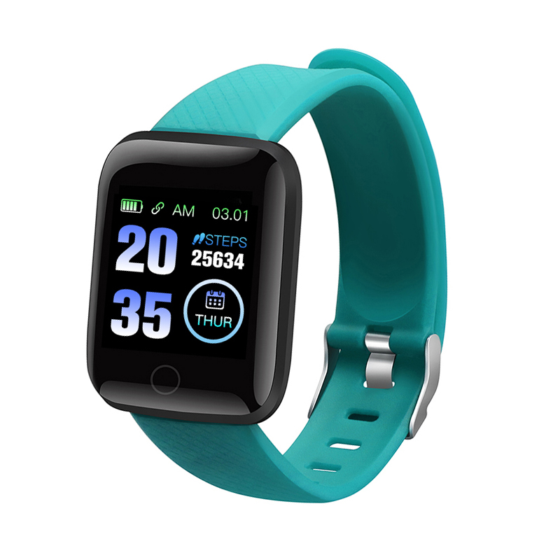 116 Smart Watch Bracelet Blood Pressure Measurement Waterproof Fitness Tracker Heart Rate Monitor Pedometer Smart Band Women M