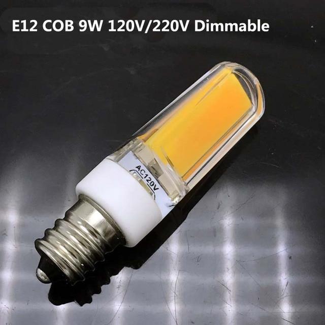 Dimmable E12 LED Lamp 220V 110V Mini COB Bulb E12 COB LED Light Bulb ...