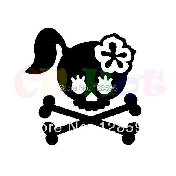 Funny Vinyl Decal Girl Skull Crossbones Bow Biker Flower Truck Fun Sticker Window Bumper Car Rear Windshield Stickers drip biohazard skull respirator funny vinyl decal sticker car window bumper diy self adhesive car styling art stickers