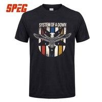 System Of A Down Soad T Shirt Men Unique Short Sleeve Cotton T Shirt EAGLES OVERCOME
