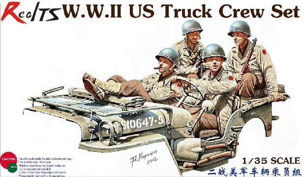RealTS Bronco 1/35 CB35159 WWII US Truck Crew Set Model Kit